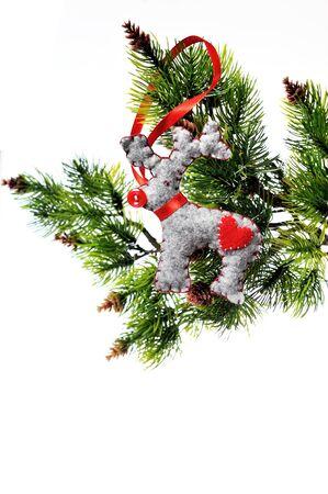 evergreen branch: Gruta de vacaciones de árbol de Navidad de suspensión de una subdivisión de Evergreen