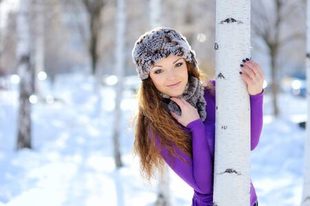 woman blowing: Christmas Girl.Winter woman Blowing Snow Stock Photo