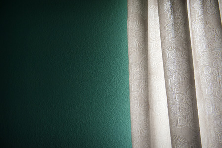 in need of space: Curtain with blank space need your decoration stuffs to putting