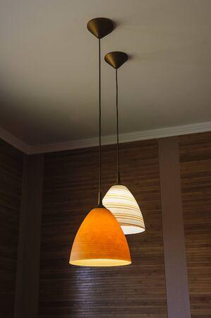 ceiling light: Ceiling light lamp decor Stock Photo