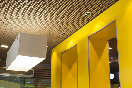 element of the interior with the luminaire