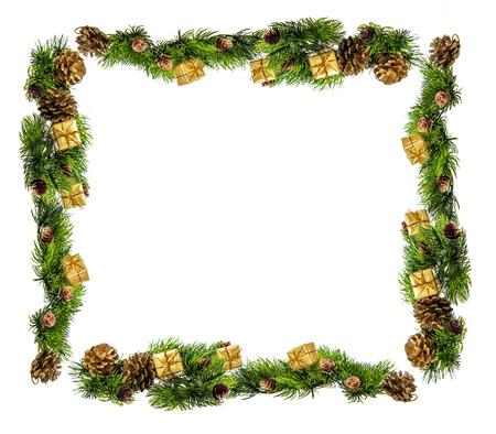 나뭇 가지와 선물의 크리스마스 조성