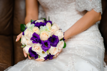 purple roses: Bridal Bouquet with purple Roses