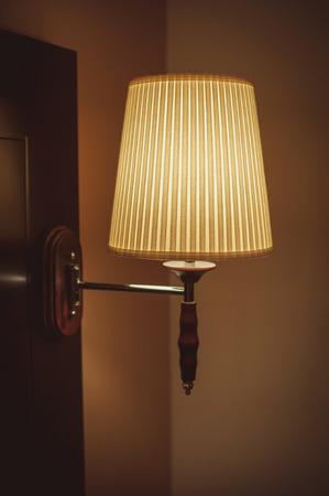 old fashion table lamp photo