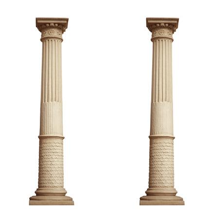 column isolated on white background