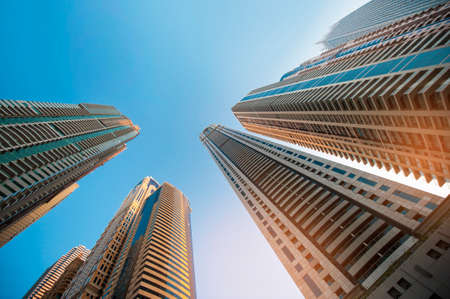 skyscraper sky: skyscraper against sky ; building glass background