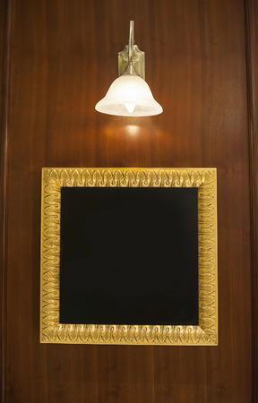 frame for your text illuminated lamp photo