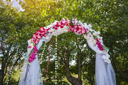 dowry: Arch for the wedding ceremony. Floristic composition in vintage style.