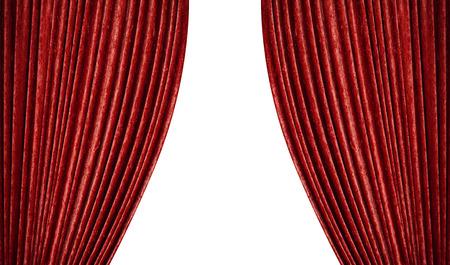흰색에 빨간 커튼입니다.