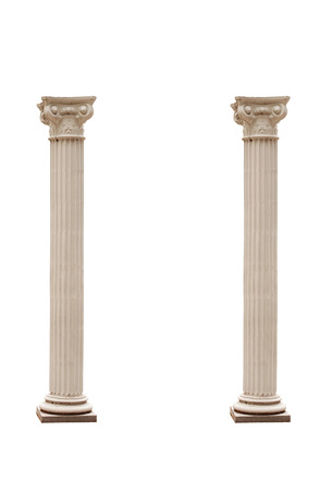 archway: Columns isolated on a white .