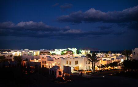 el sheikh: Night view of the Egyptian city of Sharm El Sheikh