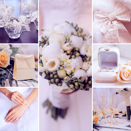 Wedding collage.