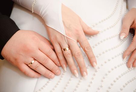 Wedding rings. Foto de archivo