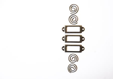 tableau: Design element, frame on a white background.