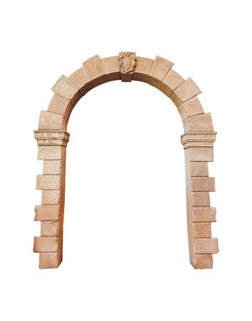 돌 아치 아키텍처는 흰색에 고립