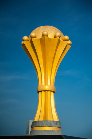 championship: golden championship trophy on a blue background