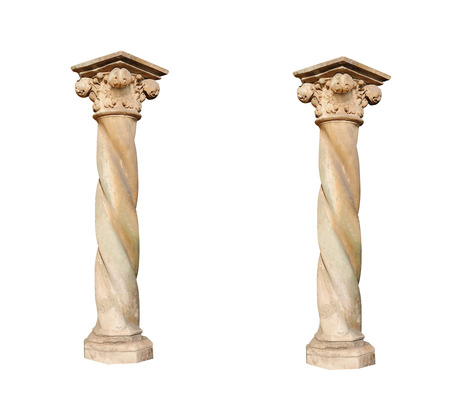 Architectural columns on a white background.