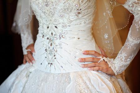 Corset wedding dress for bride.