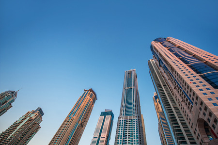 skyscrapers on a background of the sky, real estate. Stock Photo - 41863806