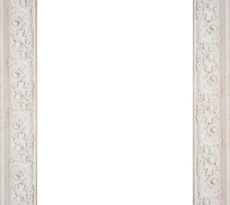 art architectural white frame molding.