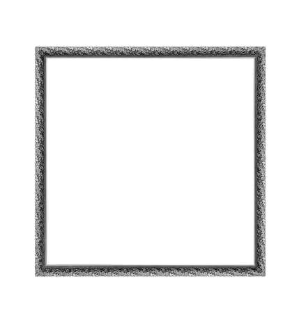 silver picture frame: silver square frame isolated on a white background.