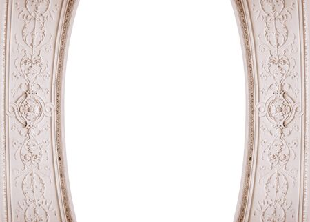 baroque picture frame: beautiful architectural framing and place for text. Stock Photo