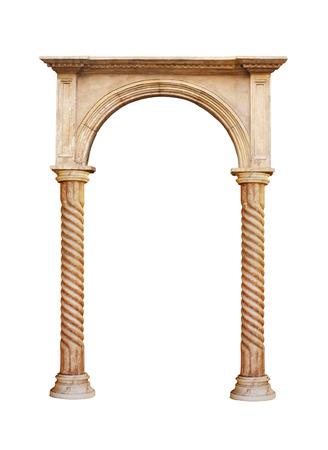 greek column isolated on white background