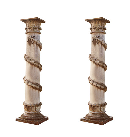 isolated architectural columns on a white background. Stock Photo - 42322764