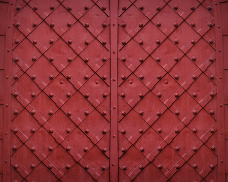 red metallic: red metallic texture background with square pattern. Stock Photo