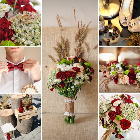beautiful wedding bouquet of wildflowers.