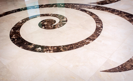 beautiful tile and marble floor in reception