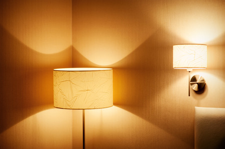 included a beautiful wall lamp in the room.