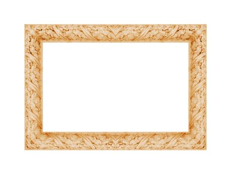 vintage photo: vintage classical photo frame isolated on white background.