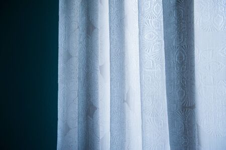 drapery: White Silk Fabric For Drapery Background. Stock Photo