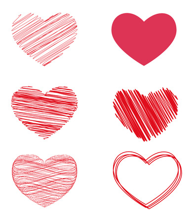 variants: vector variants of hearts for Valentines day.