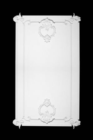 moldings: architectural element of the decor moldings on the wall frame isolated on black background