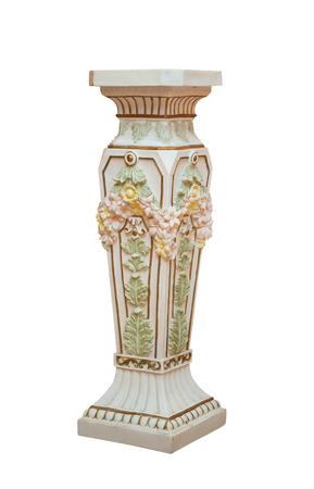 antique vase: Large Antique ceramic Floor Vase Isolated on White background.