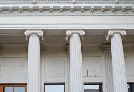ionic: Greek Ionic columns, the ancient art of architecture.