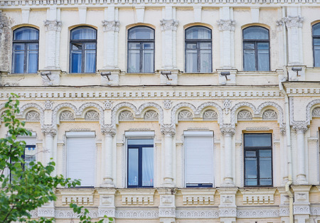 historic: historic building with Windows and columns on facade