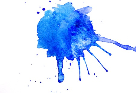 abstract watercolor background as blots on white background. Stock Photo