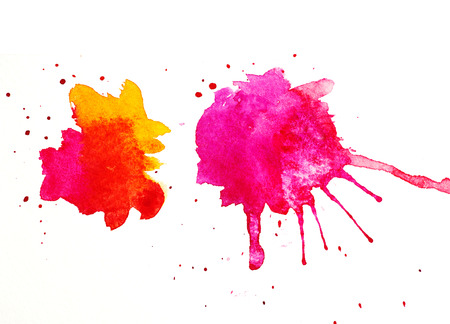 abstract colorful blobs on white paper for design Stock Photo