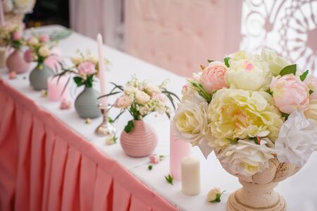 tabernacle: Beautiful decor for a wedding celebration in restaurant