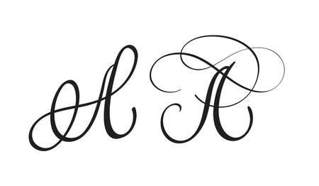 art calligraphy letter A. Vector illustration EPS10