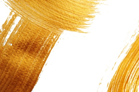 beautiful big Abstract gold background with acrylic paint brush with place for your text