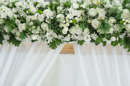 Decor of white flowers on the wedding arch stock photo picture and decor of white flowers on the wedding arch stock photo 83991983 mightylinksfo