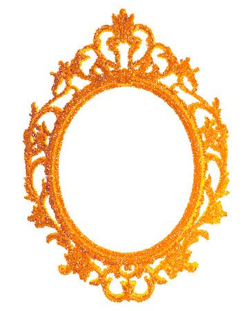 vintage gilded frame on white background. Vector illustration EPS10 Illustration