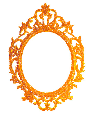 vintage gilded frame on white background. Vector illustration EPS10