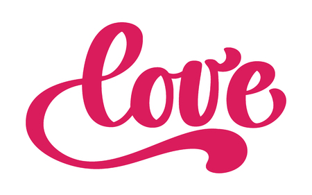 Love greeting card design with stylish red text Illustration