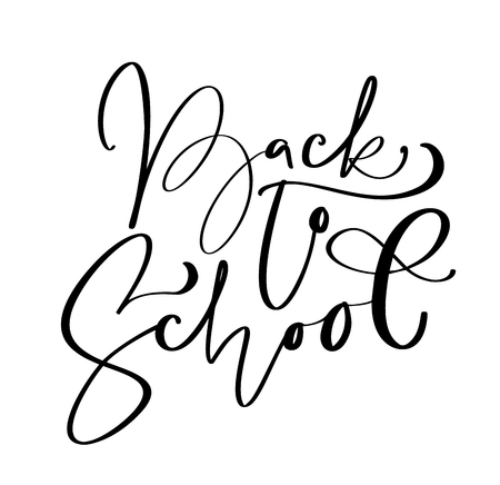 Back to school hand brush calligraphy lettering text. Education inspiration phrase for study. Drawn design vector illustration. Stock Vector - 124803700