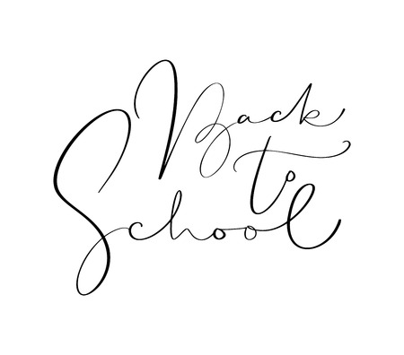 Back to school hand drawn calligraphy lettering text. Education inspiration phrase for study.